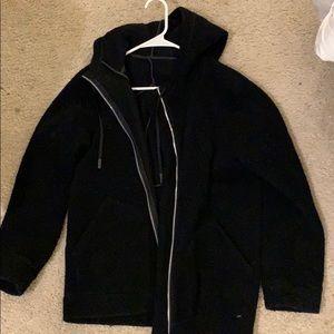 Lululemon black Sherpa zip up hoodie